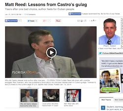 Rick Townson was interviewed by Matt Reed at Florida Today newspaper. Here's a screen shot showing the top of the article and the clip from the TV show.